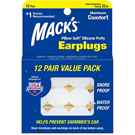 24 Pairs by Macks Macks Pillow Soft Moldable Silicone Putty Earplugs 6 Pairs x 4