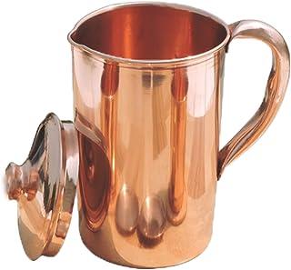 Parijat Handicraft Pure Copper Jug Copper Pitcher