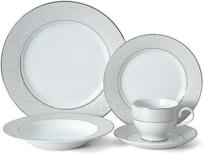 Mikasa 20-Piece Dinnerware Set, Parchment