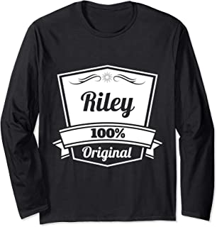 Riley Gift / Riley Personalized Name Birthday Long Sleeve T-Shirt