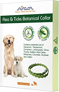Arava Flea & Tick Prevention Collar - for Dogs & Puppies - Length-25'' - 11 Natural Active Ingredients - Safe for Babies &...