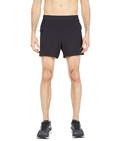 Brooks Sherpa 5 2-in-1 Shorts (Black) Men