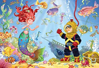Vermont Christmas Company Mermaid & Diver Kid's Jigsaw Puzzle 100 Piece