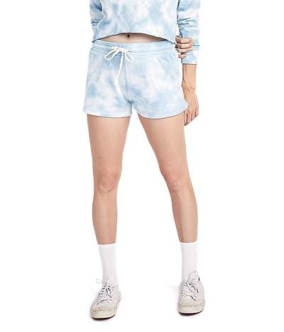 Alternative Cozy Lightweight French Terry Shorts (Sky Blue Tie-Dye) Women