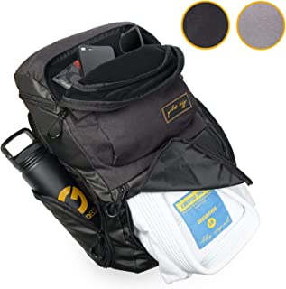 Gold BJJ Jiu Jitsu Backpack - Heavy Duty Gym Bag with Waterproof Gi Pocket