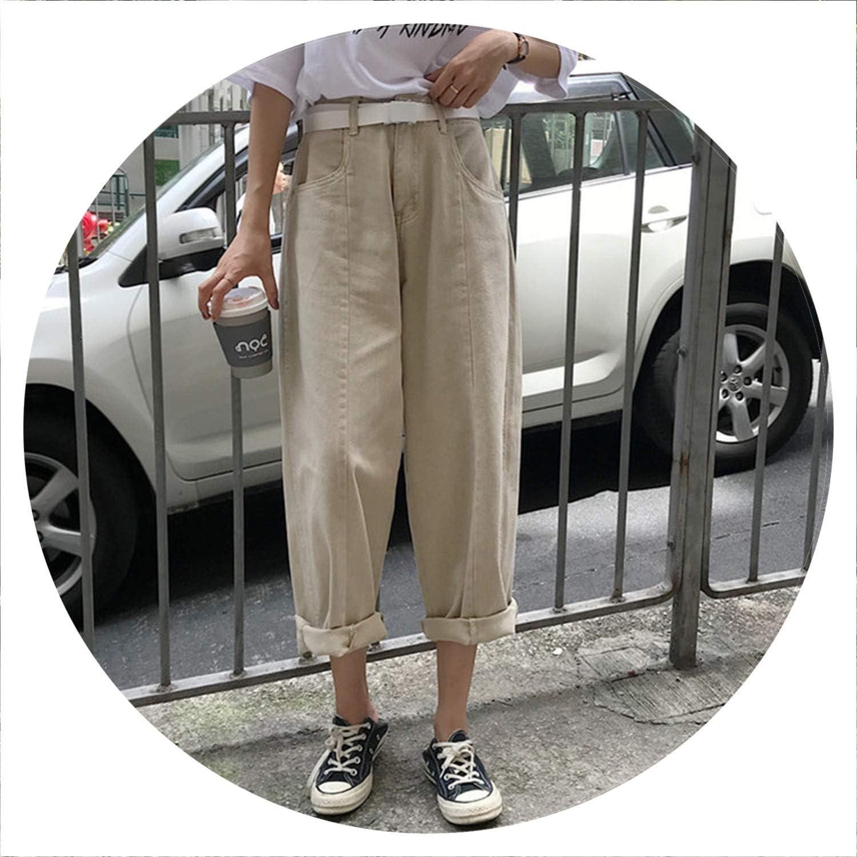 AllAboutUs Women Summer Loose Wide Leg Denim Pants High Waist Jeans Loose Wide Leg Trousers Vintage Ladies Slim Jeans
