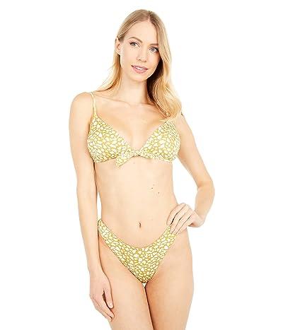 Roxy Lilies Surf Fixed Tri Bikini Top (Olive Oil Leaf) Women