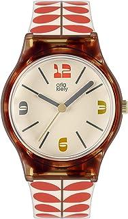 Orla Kiely Damski analogowy analogowy zegarek kwarcowy z plastikowym paskiem OK2334