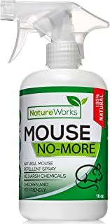 Mouse-No-More I Mice Repellent Spray I Mice Rat & Squirrel Deterrent I Car & RV Defense | Natural Organic Peppermint Oil | Indoor + Outdoor | Pet Safe (16oz)