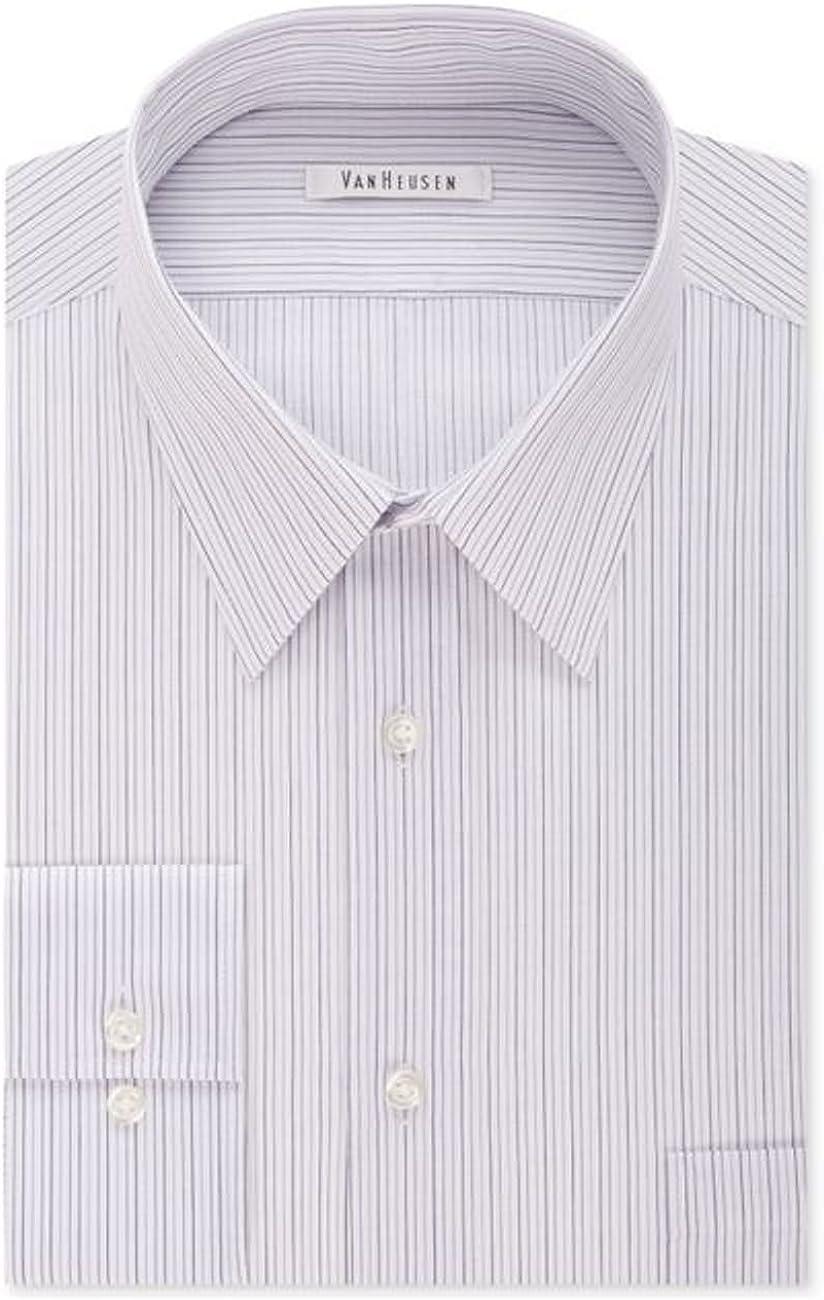 Van Heusen Men's Flex Collar Classic Fit Spread Collar Dress Shirt Striped
