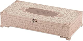 Things Remembered Personalized Rose Gold Tone Antiqued Enamel Musical Jewelry Box with Engraving Included