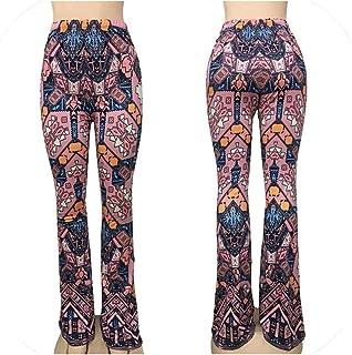 Long Pant Tribal African Print Wide Leg Trousers Bell Bottom Leggings Hippie Pants