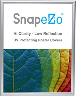 SnapeZo Poster Frame 18x24 Inches, Silver 1 Inch Aluminum Profile, Front-Loading Snap Frame, Wall Mounting, Sleek Series