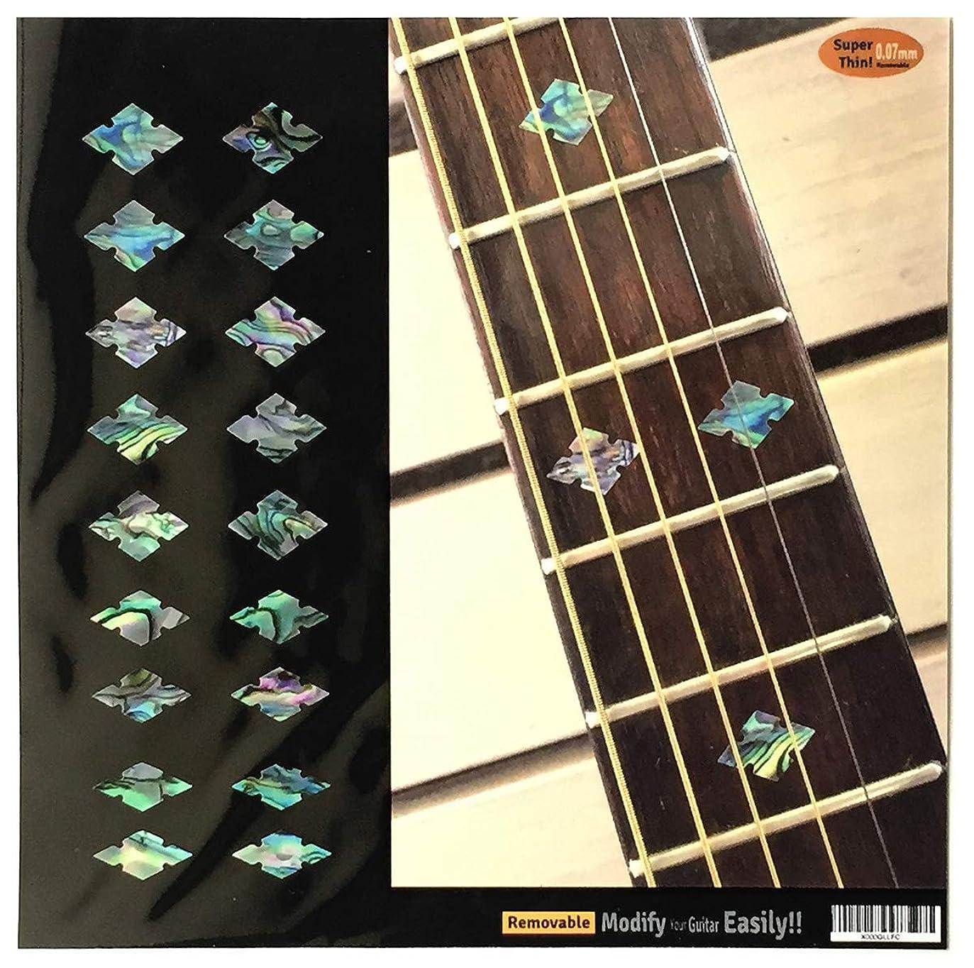 飾るシャワーバラエティTraditional カット?ダイヤモンド (アバロンMIX) ギター ベース ウクレレ インレイステッカー