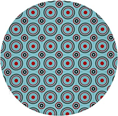 NAWING Floor Cushions Pillow Circular Illustrator Pattern Skin-Friendly Polyester with Elastic Sofa a Great Way to Relax Remo