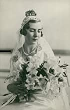 Vintage photo of Princess Ingrid of Sweden with his bridal bouquet