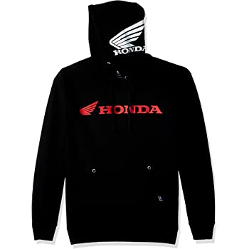 Factory Effex Licensed Honda Double Zip-Up Hoodie Black//Red Mens All Sizes