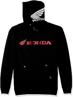 Factory Effex 15-88370 'Honda' Horizontal Hooded Pull-over Sweatshirt (Black, Medium)