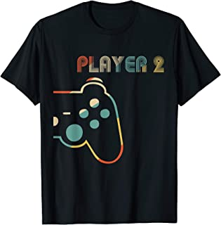Matching Gamer Couple tee Player 1 Player 2 Shirt