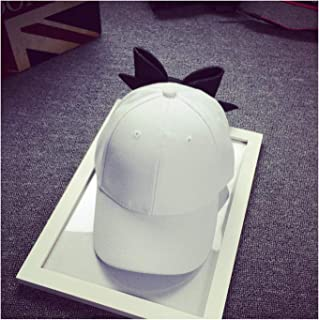 Baseball Caps Female Cute Bow Knot Casquette Adjustable Hip-Hop Snapback Cap White