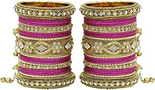 MUCH-MORE Women Amazing Traditional Fashion Multi Color Bangles Indian Party wear Jewelry