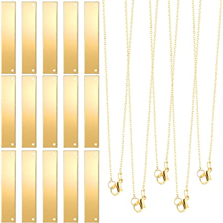 stainling steel gold plated Bar charms pendant stamping blanks bar Beads 60x7mm Pendant DIY Jewelry Necklace Gold Findings Supplies 148