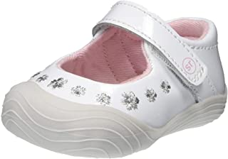 حذاء رياضي للبنات من Stride Rite SR MIRA، أبيض، مقاس 1 M أمريكي طفل كبير