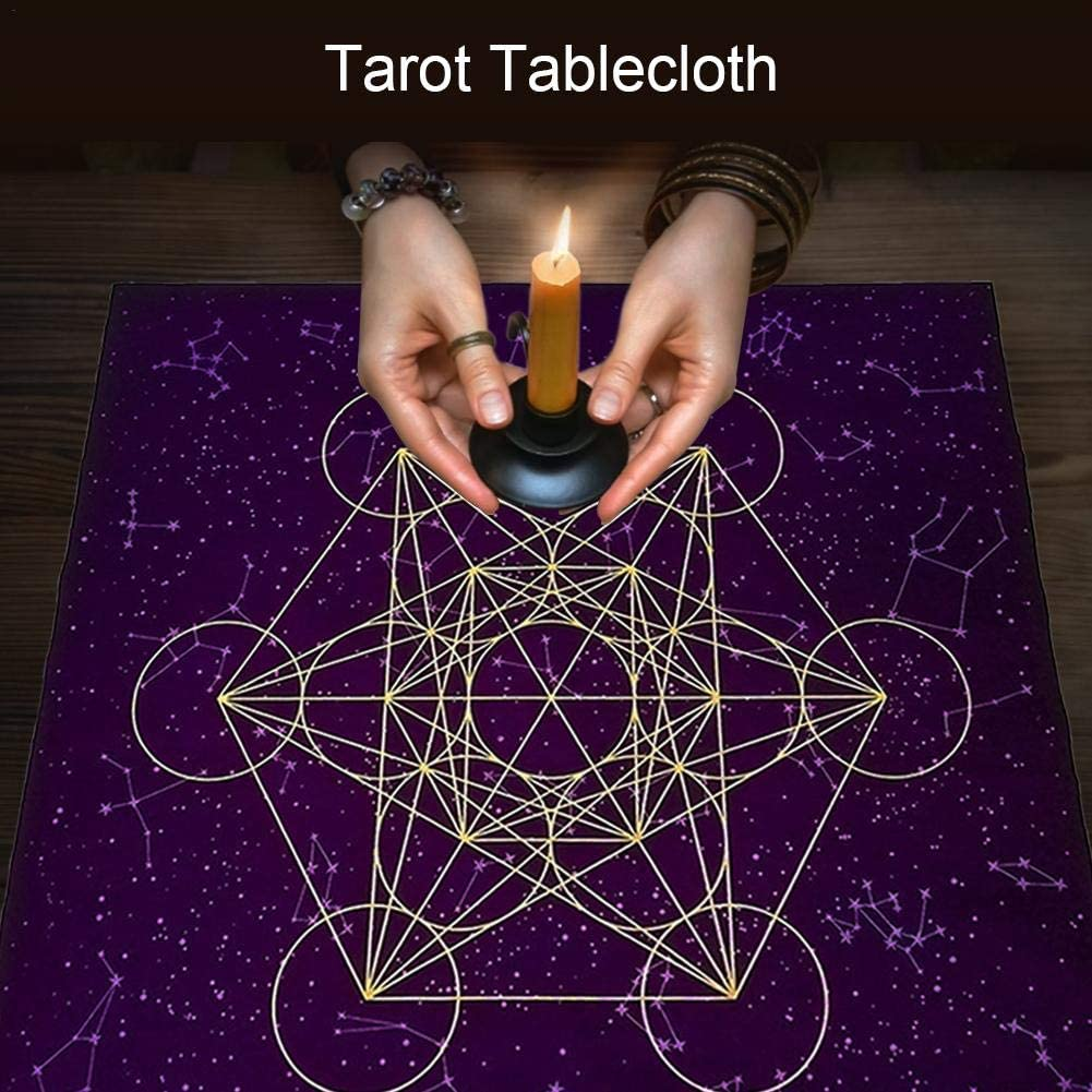cypressen Tarot card fabric tablecloth crystal grid tablecloth astrology tarot fortune telling cards tablecloth tapestry.