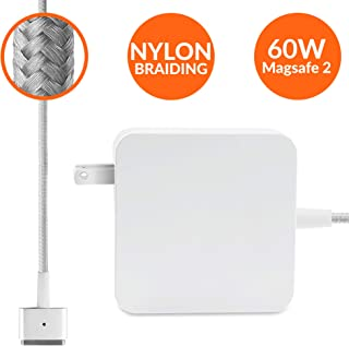 Mac Book Pro Charger Tangle-Free Nylon Cable Replacement Charger for Apple MacBook Pro Laptops with 60w Magsafe 2 Power Adapter