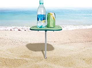 #WEJOY Small Portable Personal Beach Tables for Sand, No-Slip Surface Prevents Spills and Slips, Blue