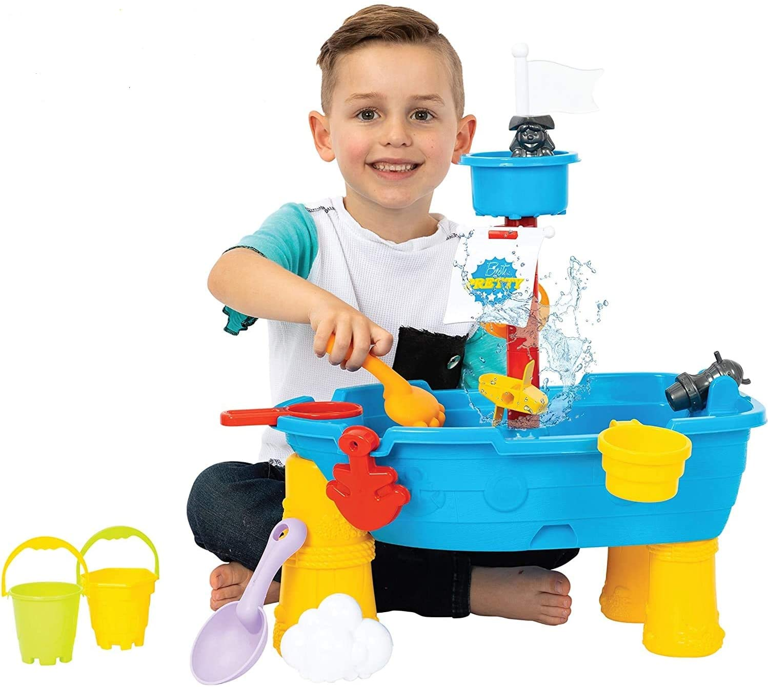 ToyVelt Sand Water Table for 2021 model 21-Piece Toddlers free Play - Tabl