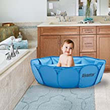 Alvantor Foldable Pet Paddling Bath Pool Puppy Swimming Pool Kiddie Pond Ball Pit Indoor/Outdoor, Bathing Tub for Dogs Cats and Kids-Patent Pending(42 x 12inch)