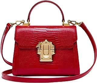Ladies Crossbody Handbags Lizard Pattern Leather Shoulder Tote Purse Mini
