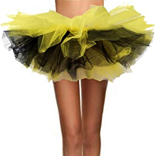 black and yellow tutu for adults