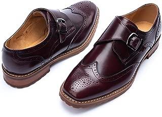 Men's Monk Strap Wingtip Dress Shoes