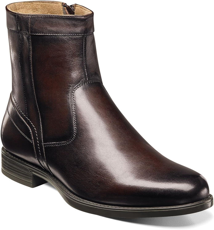 Florsheim Men's Midtown Plain Toe Zip Stiefel braun Smooth 10.5 EEE US