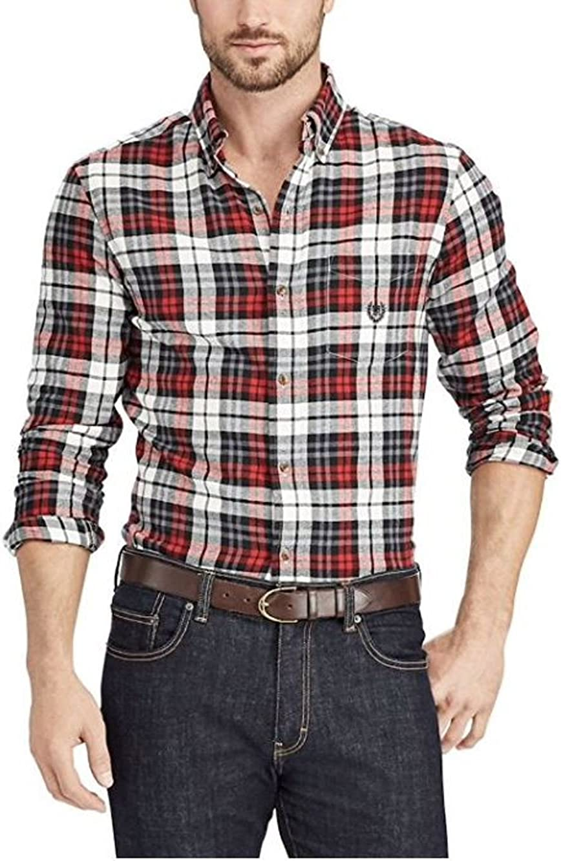 Chaps Men's Big & Tall Button-Down Performance Flannel Shirt