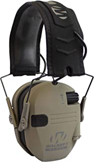 """Walker's Razor Slim Electronic Hearing Protection Muffs with Sound Amplification and Suppression. """"Protect It Or Lose It!"""""""