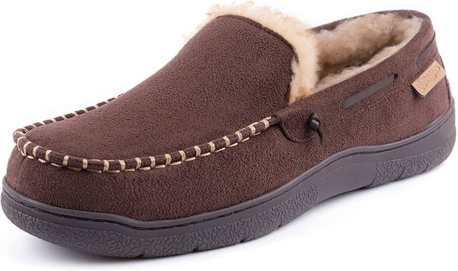 Zigzagger Men's Moccasin 2021 spring and summer new Slippers Shoes Memory Foam House Price reduction