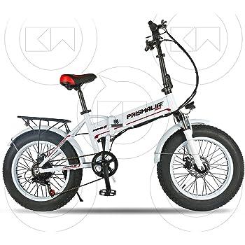 Prismalia - Bicicleta eléctrica Ebike Plegable Fat Bike de 20 Pulgadas, Motor de 250 W con Acelerador: Amazon.es: Deportes y aire libre
