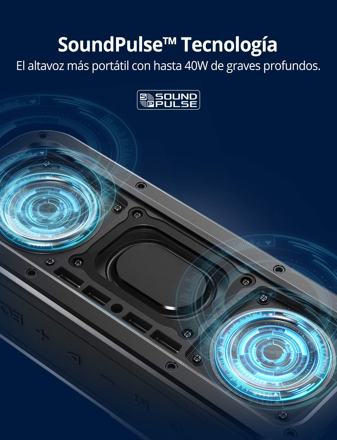 Altavoz Bluetooth Potente, Tronsmart Force 40W Altavoz inalámbrico ...