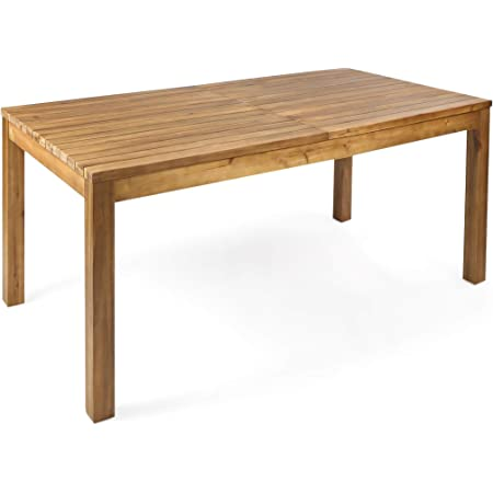 Christopher Knight Home Wilson Outdoor Expandable Acacia Wood Dining Table , Teak Finish