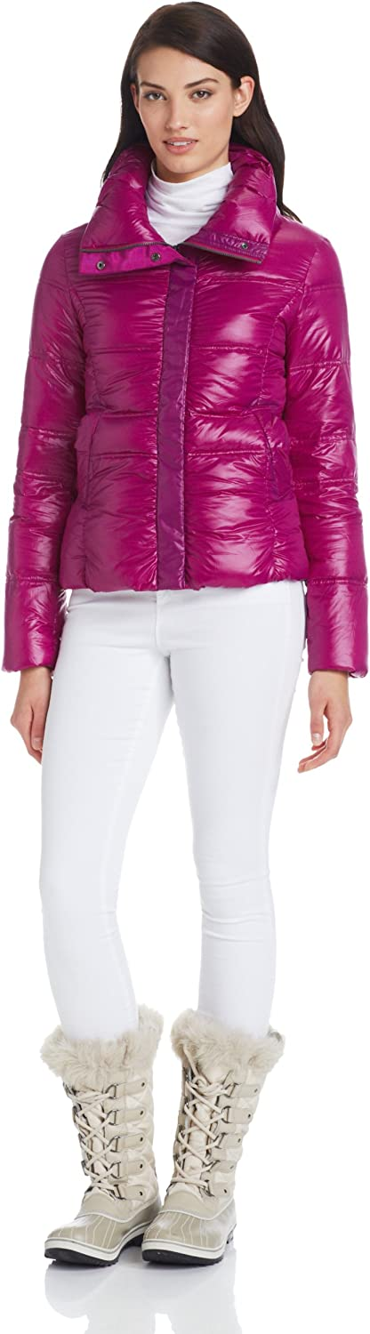 Coatology Women's Contrast Bomber Down Jacket
