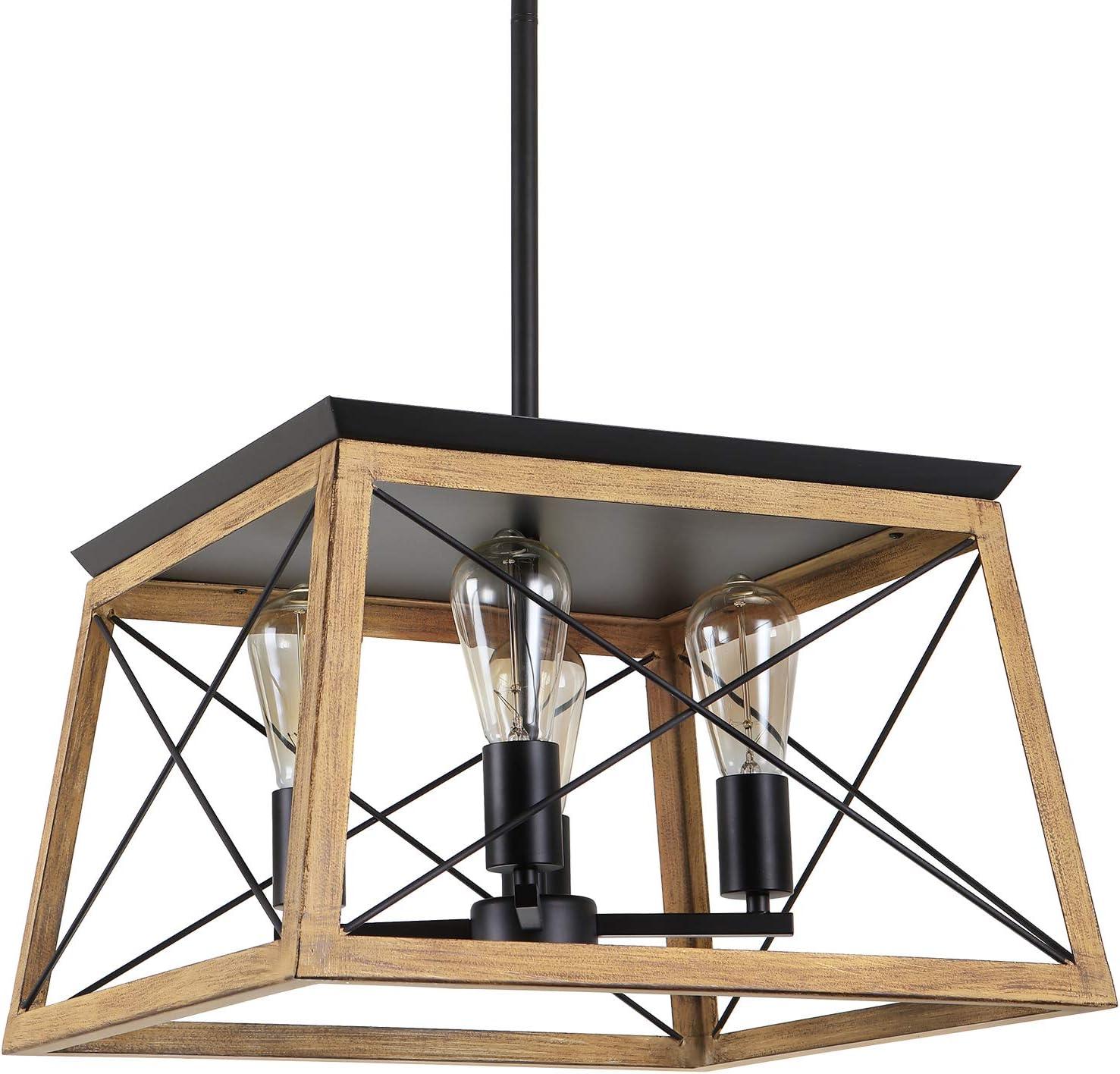 Luupyia Farmhouse Pendant Light Adjustable 4-Lights Limited time cheap sale Inexpensive R Fixture