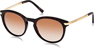 MICHAEL KORS Women's Adrianna III 310613 53 Sunglasses, Dark Tortoise/Browngradient