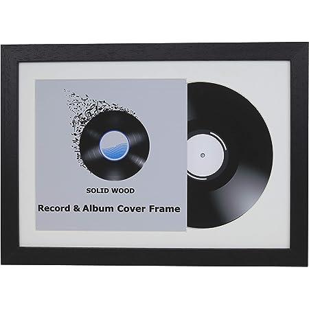Vinyl Photo Picture Frames Choice of Frame Colours Vinyl Record Frames  Single 12\u2033 Inches Vinyl Lp Record Frames White Mount