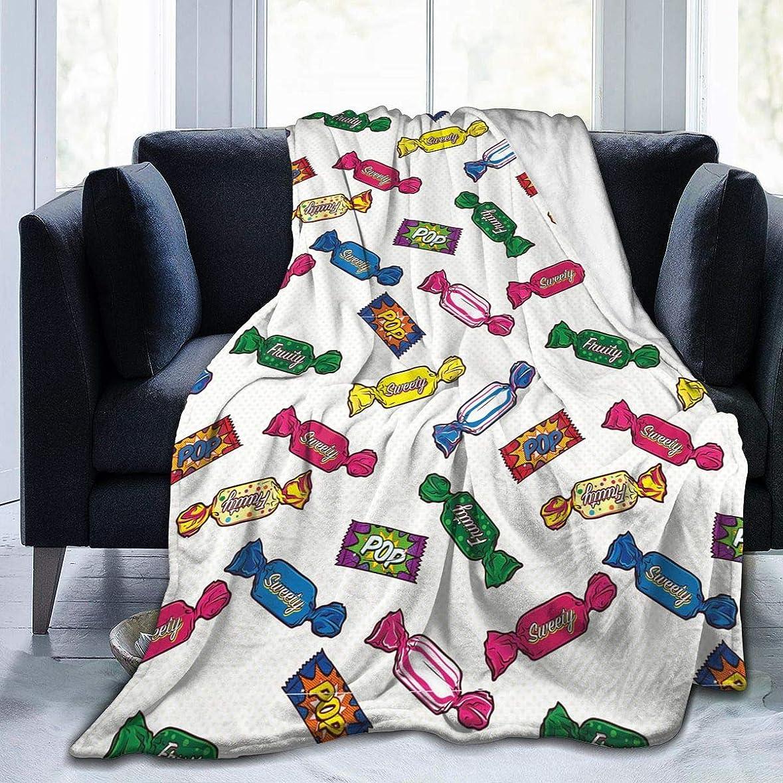 ボトルネック救出深く飴 糖柄 キャンディ 毛布 掛け毛布 ブランケット シングル 暖かい柔らかい ふわふわ フランネル 毛布 三つのサイズ