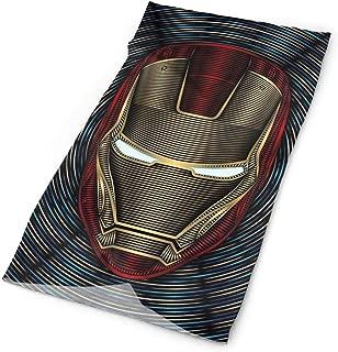 JINUNNU Multifunctional Headwear Civil War Iron Man Print Neck Gaiter - Sports & Casual Headband Bandana