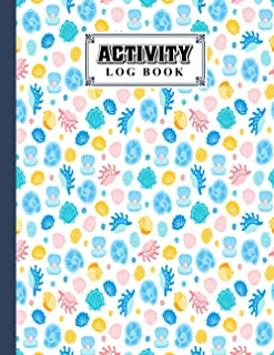 Activity Log Book: shells Cover Activity Log Book, 120 Pages, 8.5X11 Inch, Activity Log Book For All Buisnesses By Alwine ...