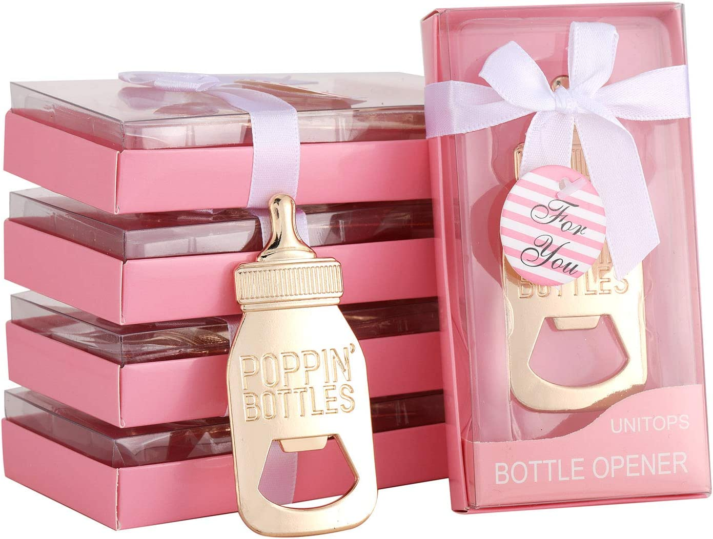 48Pcs Baby Shower Bottle Party Favors Shaped Online limited product Opener Seasonal Wrap Introduction